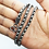 Thumbnail: 24.5 Inch 925 Sterling Silver Wheat Chain Necklace / Solid / Oxidised
