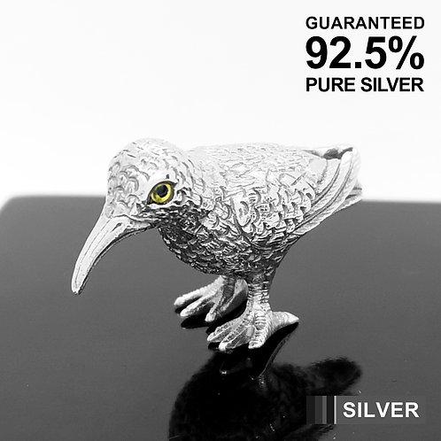 925 Sterling Silver Miniature Sandpiper Bird Animal Figurine / Solid / Quality