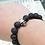 Thumbnail: Black Lava Stone Skull Head Beads Bracelet