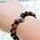 Thumbnail: Tiger's Eye Stone Skull Head Beads Bracelet / 925 Sterling Silver, Blackened