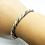 Thumbnail: 925 Sterling Silver Heavy Twisted Wire Open Cuff Bangle /Solid /Oxidised