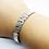 Thumbnail: 925 Sterling Silver Squeezed Wire Open Cuff Bangle /Solid /Oxidised