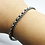 Thumbnail: 925 Sterling Silver Wheat Chain Link Bracelet /Solid /Oxidised