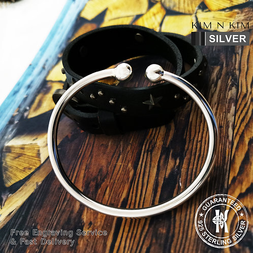925 Sterling Silver Womens Mens Torque Bangle Bracelet / Solid / Quality