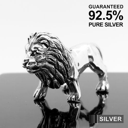 925 Sterling Silver Miniature Lion Animal Figurine / Solid / Quality