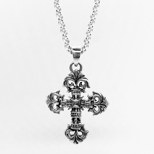 925 Sterling Silver Classic Cross Pendant / Quality / Solid / Oxidised