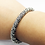 Thumbnail: 925 Sterling Silver Patterned HEAVY Wire Open Cuff Bangle /Solid /Oxidised
