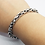 Thumbnail: 925 Sterling Silver CHUNKY Prince of Wales Link Bracelet /Solid /Oxidised