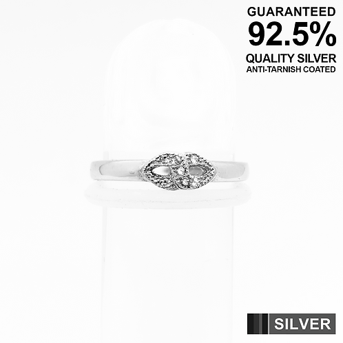 925 Sterling Silver Infinity Symbol with CZ Setting Toe Ring / Midi Ring