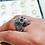 Thumbnail: Filigree Skull Head Ring / 925 Sterling Silver, Blackened, Solid