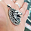 Thumbnail: WOLF Head Celtic Pendant / 925 Sterling Silver, Blackened, Solid