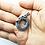 Thumbnail: 925 Sterling Silver Rune Circle Celtic DRAGON Pendant / Blackened / Solid