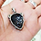 Thumbnail: LEOPARD Head With CZ Pendant / 925 Sterling Silver, Blackened