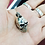 Thumbnail: Heavy Skull Head Pendant / Blackened, Solid