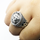 Thumbnail: 925 Sterling Silver Pentagram with Snake Gothic Ring / Solid / Oxidised