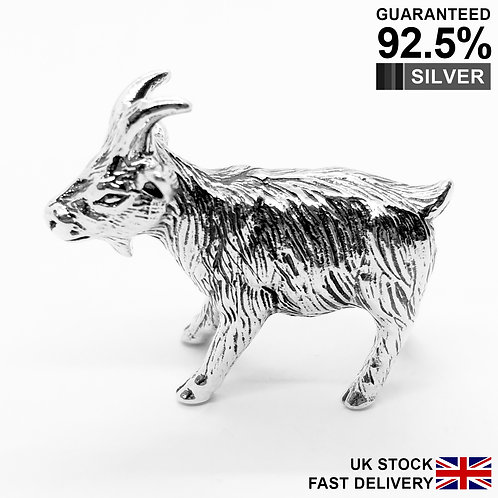 925 Sterling Silver Miniature Goat Animal Figurine / Solid / Quality