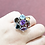Thumbnail: 925 Sterling Silver Women's Multi Gemstone Ring / Quality / Solid