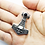 Thumbnail: 925 Sterling Silver Skull Head Thor's Hammer with Onyx Pendant / Solid/Oxidised
