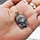 Thumbnail: RED INDIAN CHIEF SKULL Pendant / 925 Sterling Silver, Blackened