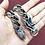 Thumbnail: 925 Silver Men's Heavy Chunky Dragon Link Bracelet Bangle / Oxidised