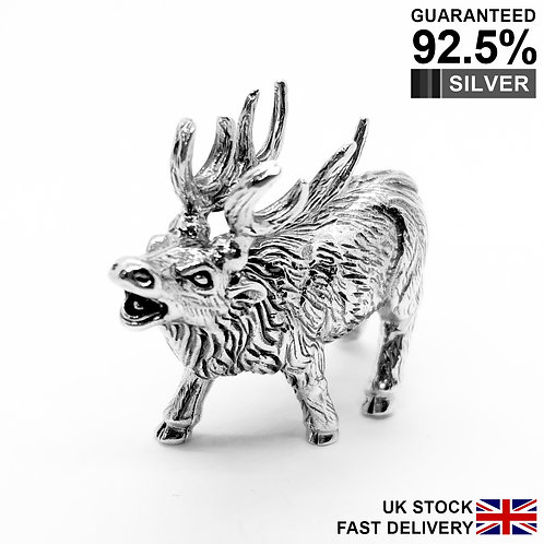 925 Sterling Silver Miniature Reindeer Animal Figurine / Solid / Quality