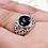 Thumbnail: Onyx Filigree Ring / 925 Sterling Silver, Blackened, Solid