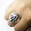Thumbnail: 925 Sterling Silver 3D Lion's Head Ring / Oxidised / Solid