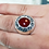 Thumbnail: Carnelian Filigree Ring / 925 Sterling Silver, Blackened, Solid
