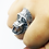 Thumbnail: 925 Sterling Silver Gorilla's Head Ring / Solid / Oxidised