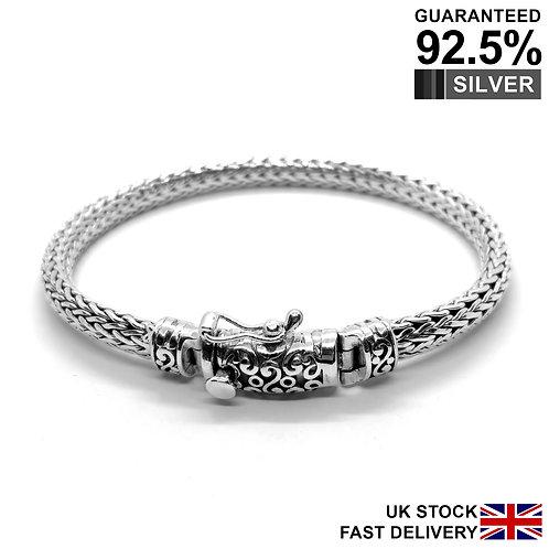 925 Sterling Silver Men's Foxtail link Bracelet / Quality / Solid