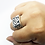 Thumbnail: 925 Sterling Silver Square Signet Celtic Dragon Ring / Solid / Oxidised