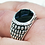 Thumbnail: Onyx Bubble Pattern Ring / 925 Sterling Silver, Blackened, Solid