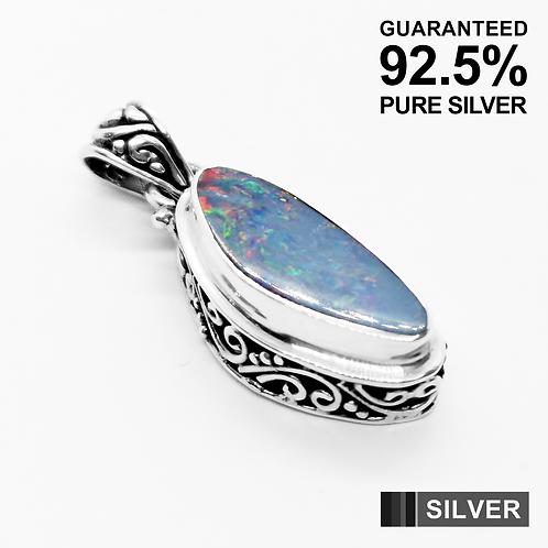 925 Sterling Silver Australian OPAL Gemstone Pendant / Solid / Quality