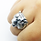 Thumbnail: 925 Sterling Silver 3D Tiger's Head Ring / Solid / Oxidised