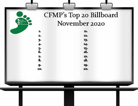 C.F.M.P.'s Top 20 Billboard - November 2020