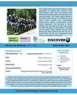 Student Conservation Association Virtual