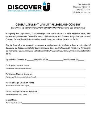 DiscoverU General Student Waiver Bilingu