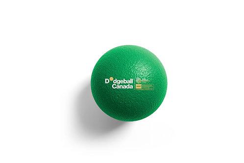 "7"" WDBF PU Skin Foam Dodgeball (Green)"