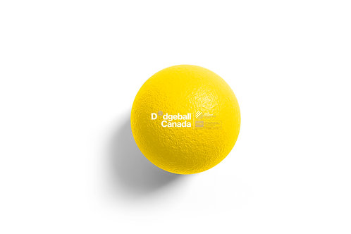 "7"" WDBF PU Skin Foam Dodgeball (Yellow)"
