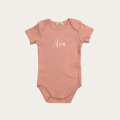 Signature Font | Personalised Baby Grow