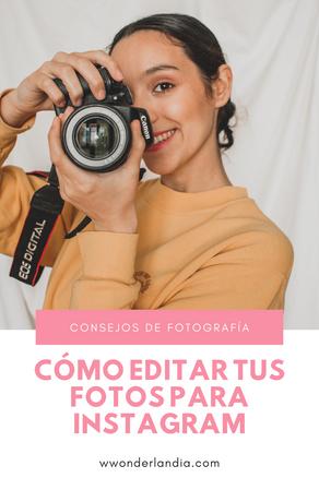 📸 Cómo editar tus fotos para Instagram