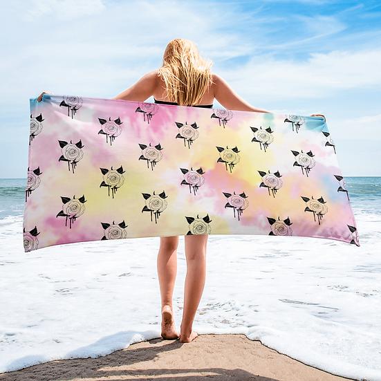 Bleeding Rose Beach Towel