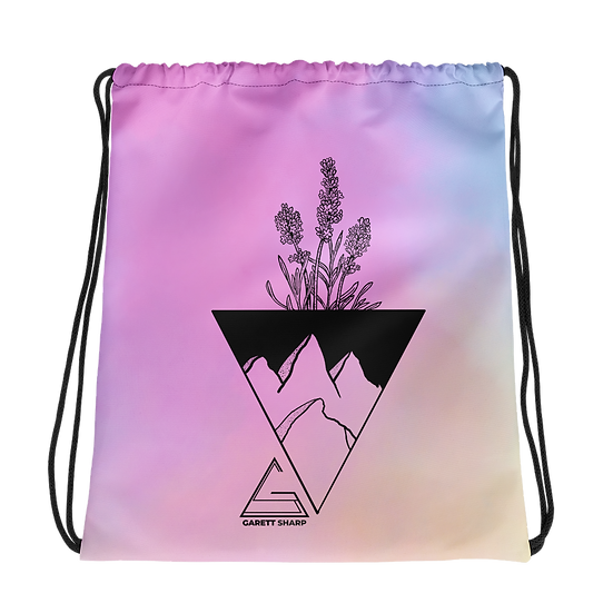 Cotton Candy Revolution Drawstring bag