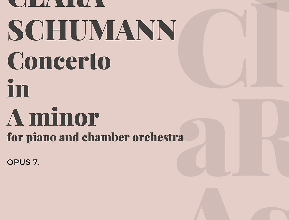 Concerto in A minor Opus 7 for piano and chamber orchestra