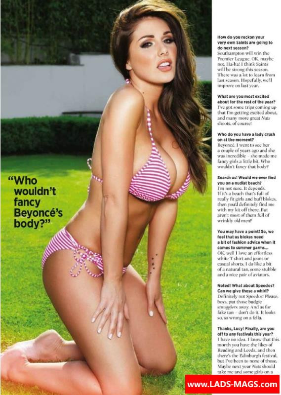 Find Nuts magazine photo shoots of Lucy Pinder