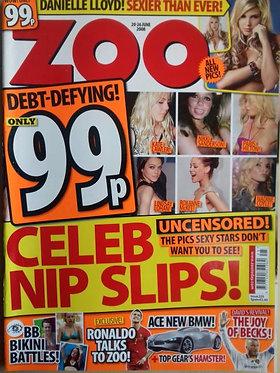 Zoo 20-26 June 2008 #225 Celeb Nip Slips, Danielle Lloyd