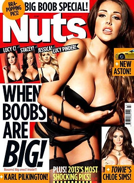 Nuts 7-13 June 2013 Lucy Pinder Topless Chloe Sims, Jessica Davies, Lucy