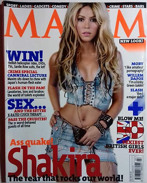 MAXIM July 2002 - Shakira, Melinda Messenger, Moby