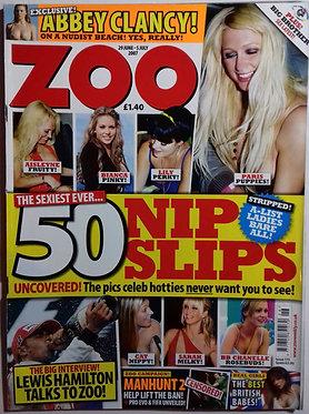 Zoo 29 June - 5 July 2007 Nip Slips Issue, Abbey Clancy, Chris Ryan