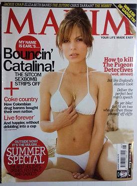 MAXIM August 2008 - Nadine Velazquez Elizabeth Banks